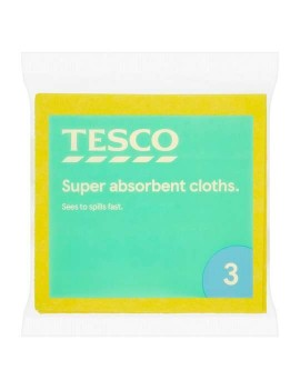 TESCO SUPER ABSORBENT CLOTHS