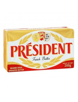 PRESIDENT FRENCH UNSALTED BUTTER 200g