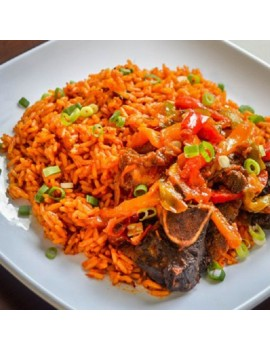 Jollof Rice + Coleslaw + 1 Beef