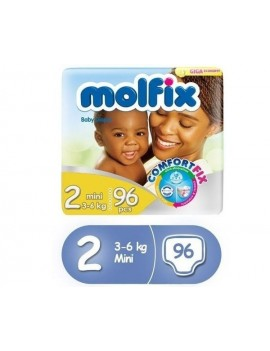 MOLFIX BABY DIAPERS SIZE 2(MINI 3-6KG) 96PCS