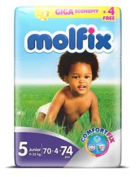 MOLFIX BABY DIAPERS SIZE 5