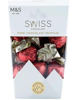 M&S SWISS DARK CHOCOLATE TRUFFLES
